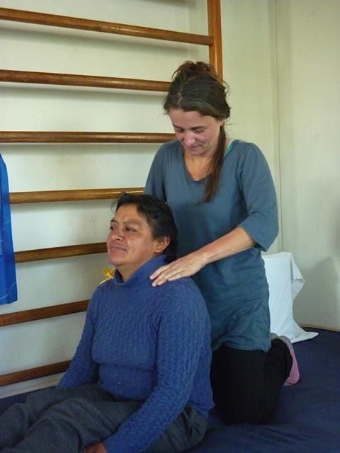 Bérénice en séance avec la maman de Miguel