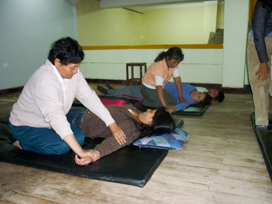 mission shiatsu perou beatrice bernard mai 2010 ; enseignement du shiatsu à Cusco