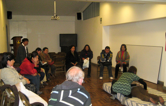 mission shiatsu perou beatrice bernard mai 2010 ; conférence démonstration